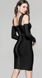 Marciano bandage detachable sleeve dress